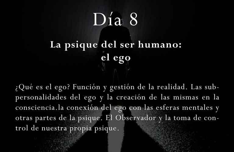 ¿Qué es el ego? Función y gestión de la realidad. Las subpersonalidades del ego y la creación de las mismas en la consciencia.la conexión del ego con las esferas mentales y otras partes de la psique. El Observador y la toma de control de nuestra propia psique.